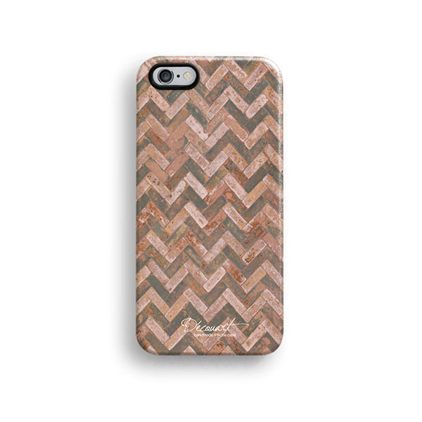 Papaya grunge chevron iPhone 6 case, iPhone 6 plus case S467B - Decouart - 1