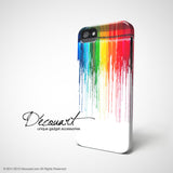 Rainbow dripping paint iPhone 7 case, iPhone 7 Plus case S472 - Decouart - 3