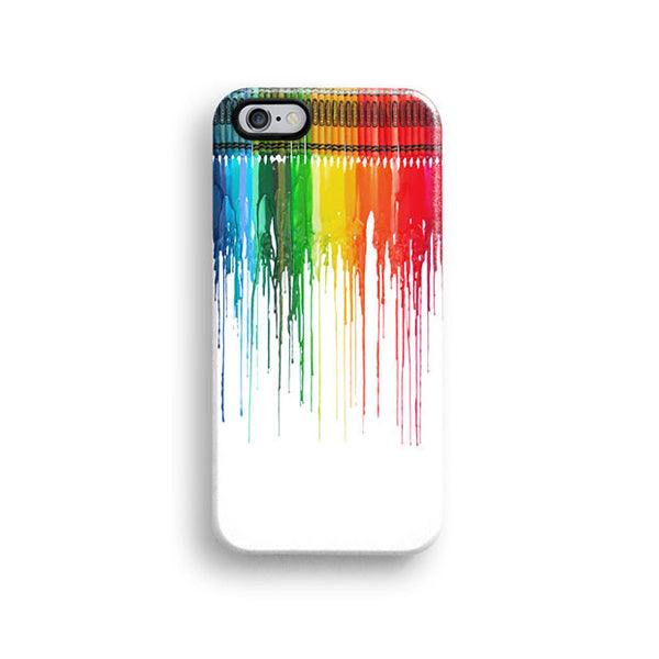 Rainbow dripping paint iPhone 7 case, iPhone 7 Plus case S472 - Decouart - 1
