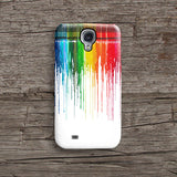 Rainbow dripping paint iPhone 7 case, iPhone 7 Plus case S472 - Decouart - 2