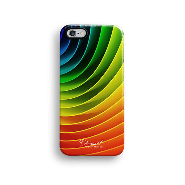 Rainbow circular iPhone 7 case, iPhone 7 Plus case S473B - Decouart - 1