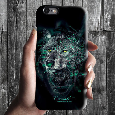 Black wolf iPhone case S493 - Decouart