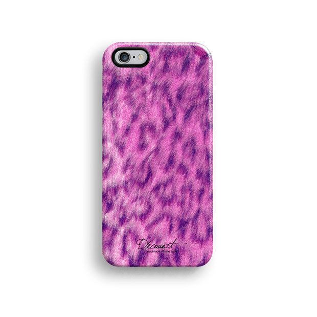Pink leopard fur pattern iPhone 11 case S501 - Decouart