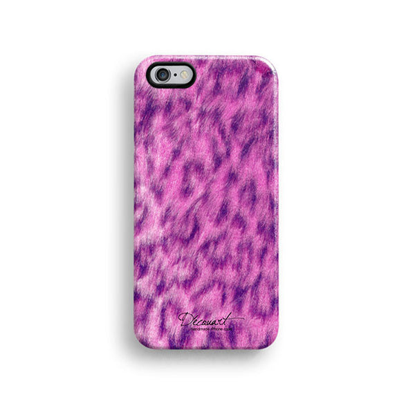 Pink leopard fur pattern iPhone 7 case, iPhone 7 Plus case S501 - Decouart - 1