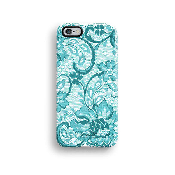 Mint lace iPhone 7 case, iPhone 7 Plus case S508 - Decouart - 1