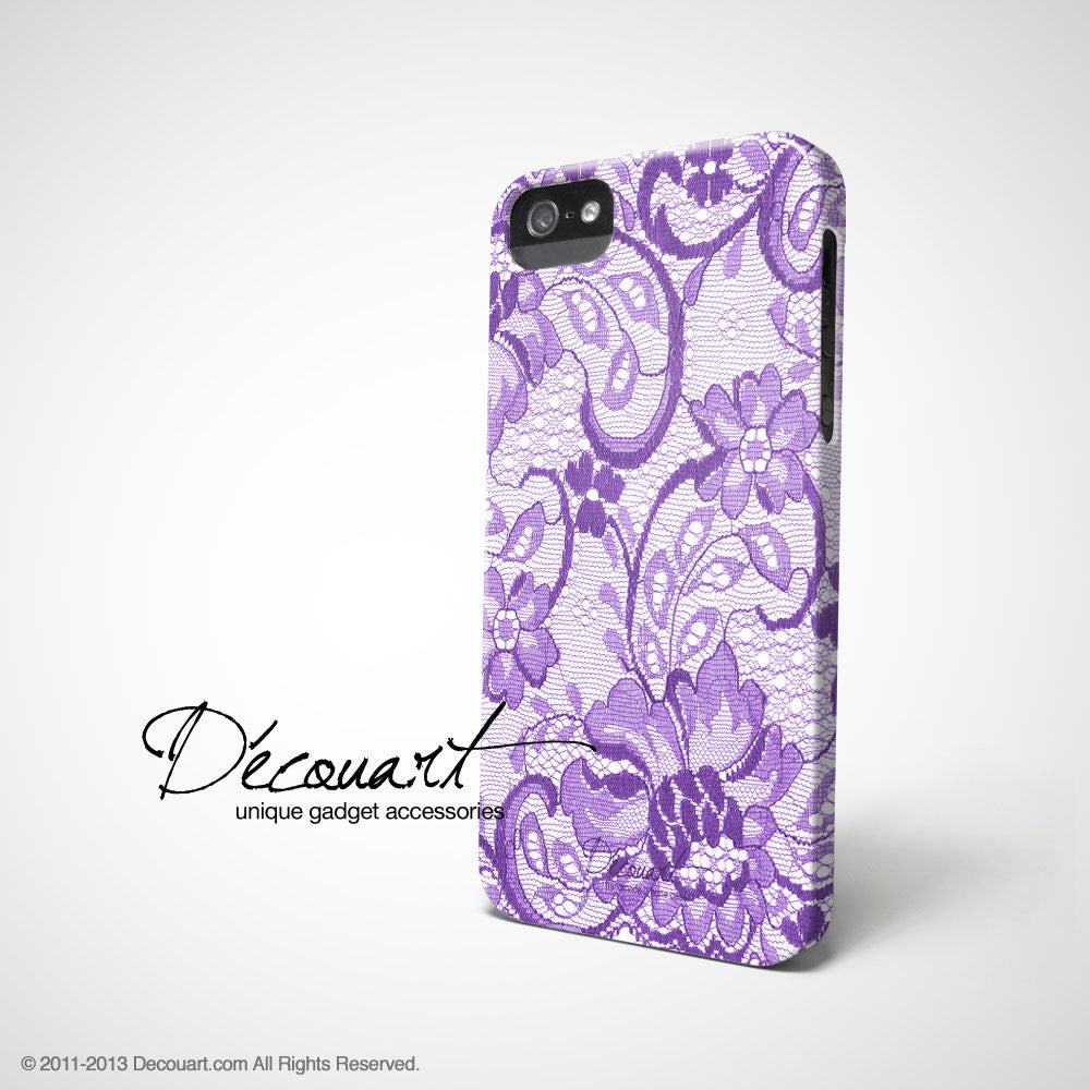 Purple lace iPhone 11 case S509 - Decouart