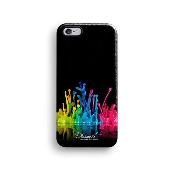 Colourful paint splash iPhone 7 case, iPhone 7 Plus case S515 - Decouart - 1