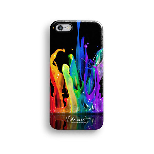 Colourful paint splash iPhone 7 case, iPhone 7 Plus case S516 - Decouart - 1