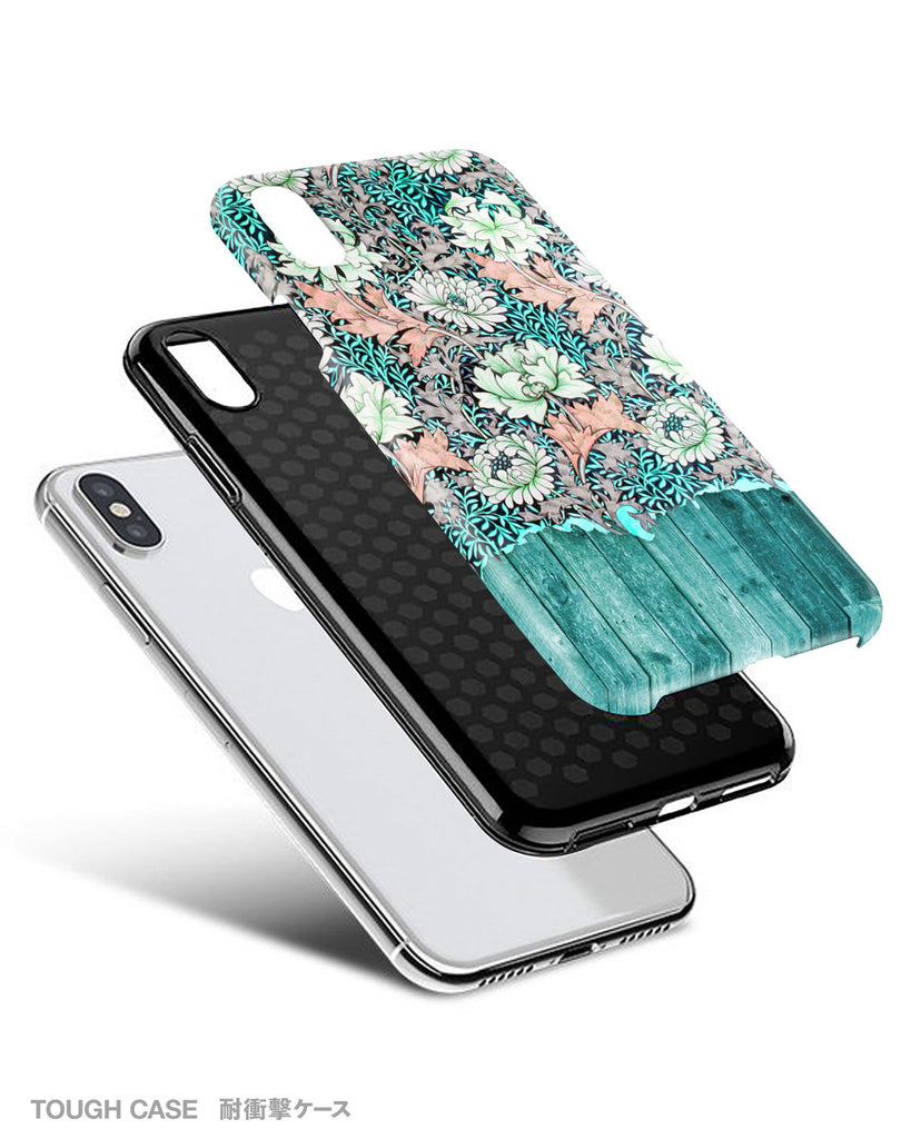 Mint wood floral iPhone 11 case S553 - Decouart