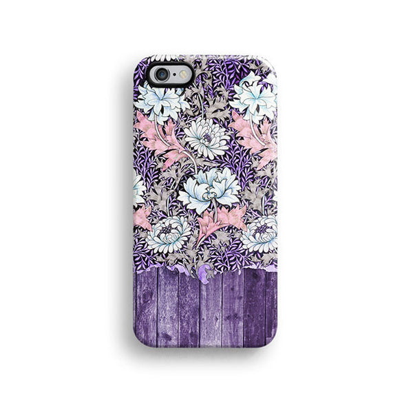 Purple wood floral iPhone 7 case, iPhone 7 Plus case S553B - Decouart - 1