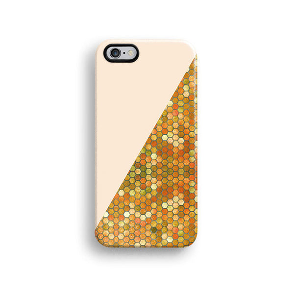 Cream geometric iPhone 7 case, iPhone 7 Plus case S554B - Decouart - 1