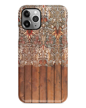 Floral wood iPhone 12 case S573 - Decouart