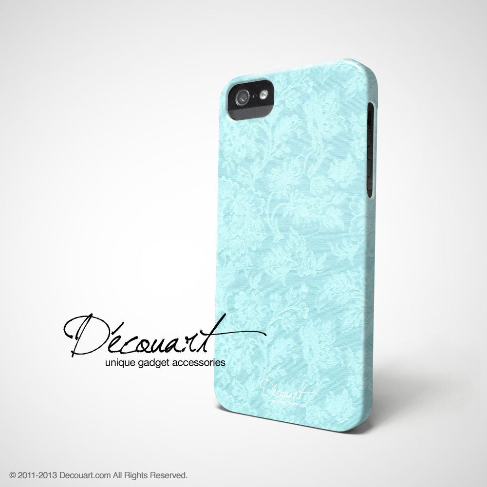 Baby blue floral iPhone 11 case S581 - Decouart
