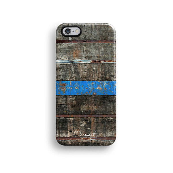 Wood with blue stripe iPhone 7 case, iPhone 7 Plus case S590 - Decouart - 1