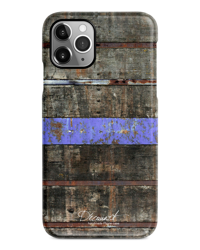 Wood with purple stripe iPhone 12 case S591 - Decouart