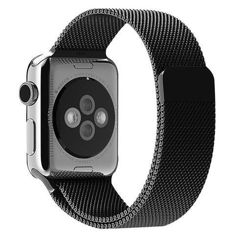 Decouart Black Milanese loop Stainless Steel Bracelet - Decouart