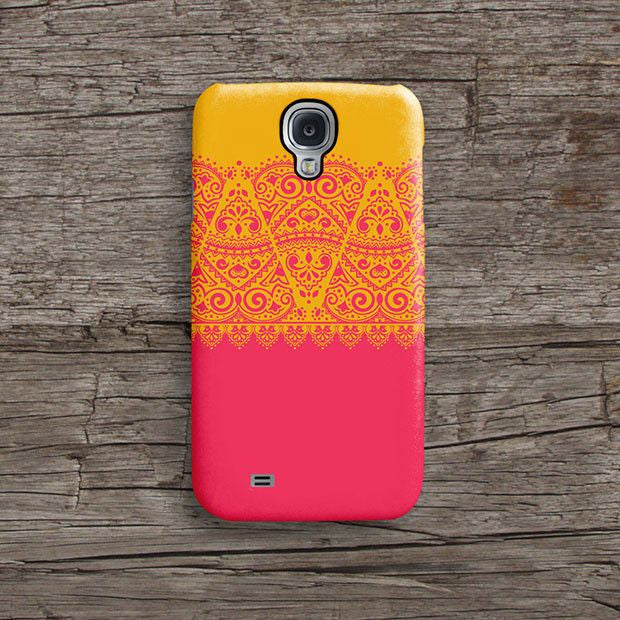 Pink and orange lace iPhone 12 case S601 - Decouart