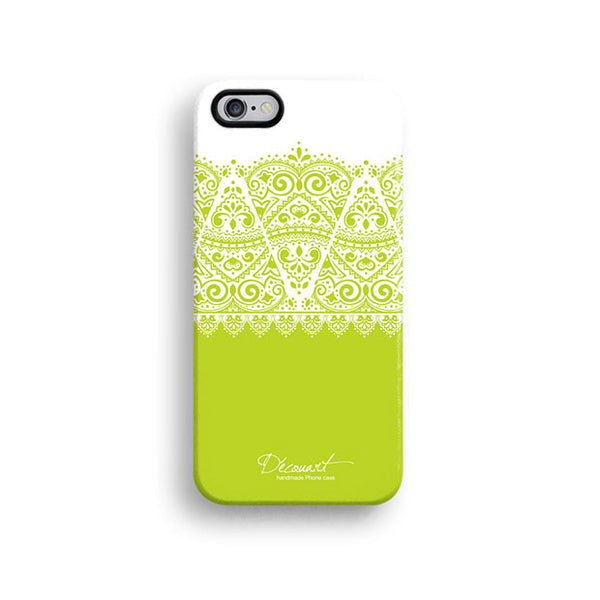 Green lace iPhone 7 case, iPhone 7 Plus case S602 - Decouart - 1