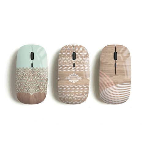 Aztec wireless mouse, mint lace, navajo, geometric - Decouart
