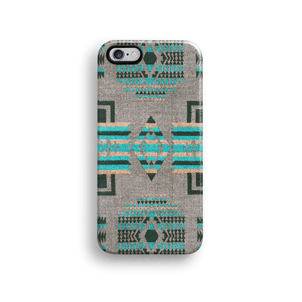 Mint aztec iPhone 7 case, iPhone 7 Plus case S637 - Decouart - 1