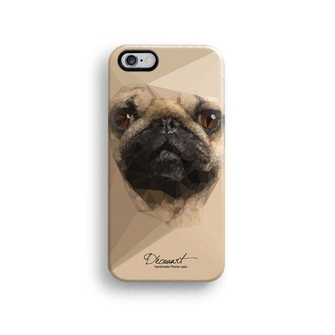 Cream Pug iPhone 7 case, iPhone 7 Plus case S643 - Decouart - 1