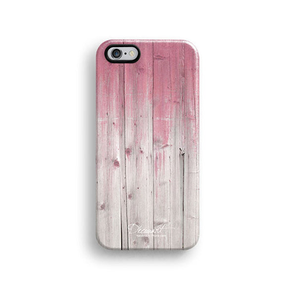 Pink wood iPhone 6 case, iPhone 6 plus case S646 - Decouart - 1