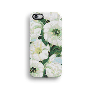 Green floral mosaic iPhone 12 case S651 - Decouart