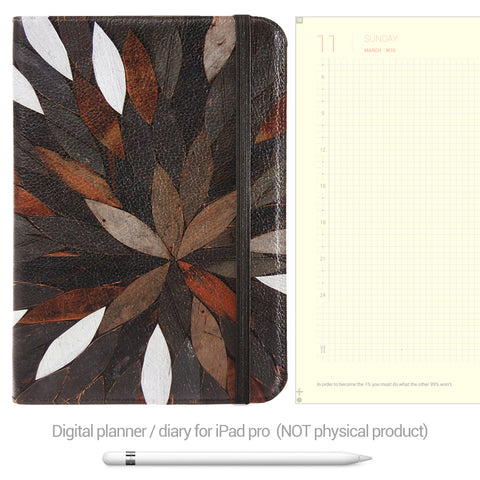 Digital Planner / Diary for GoodNotes - Yellow background - Leaves - Decouart