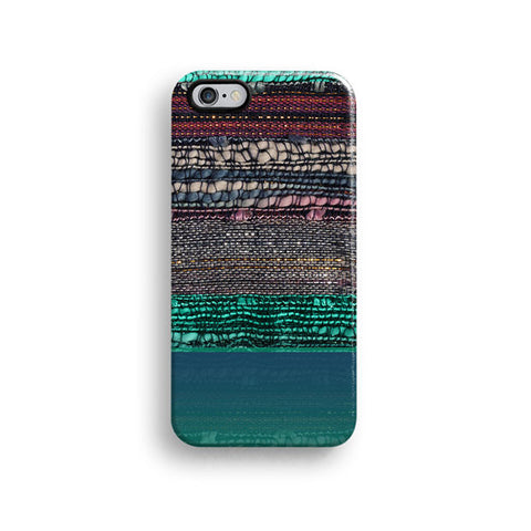 Mint boho fabric iPhone 7 case, iPhone 7 Plus case S659 - Decouart - 1
