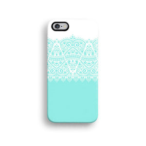 Blue lace iPhone case S665 - Decouart