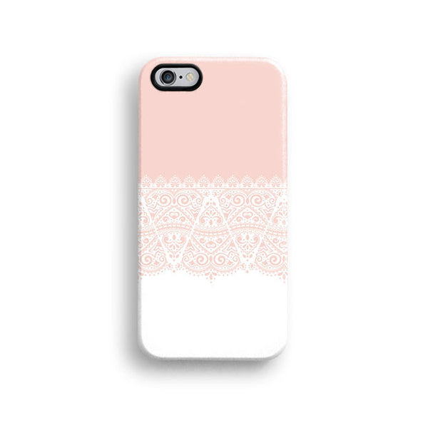 Pink lace floral iPhone 6 case, iPhone 6 plus case S667 - Decouart - 1