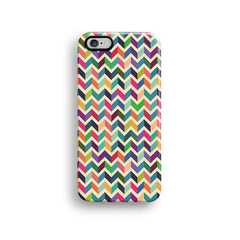 Colourful chevron iPhone 7 case, iPhone 7 Plus case S672 - Decouart - 1