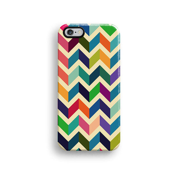 Colourful chevron iPhone 7 case, iPhone 7 Plus case S673 - Decouart - 1