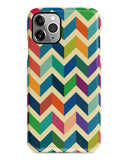 Colourful chevron iPhone 12 case S673 - Decouart