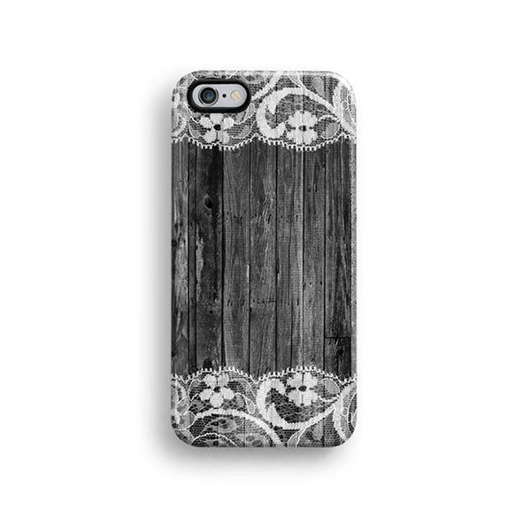 Black wood lace iPhone 7 case, iPhone 7 Plus case S674 - Decouart - 1
