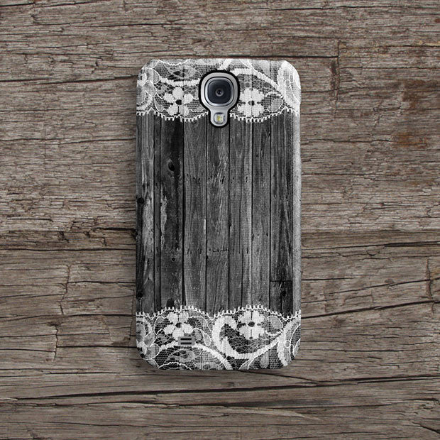 Black wood lace iPhone 12 case S674 - Decouart