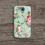 Mint floral iPhone 11 case S678 - Decouart
