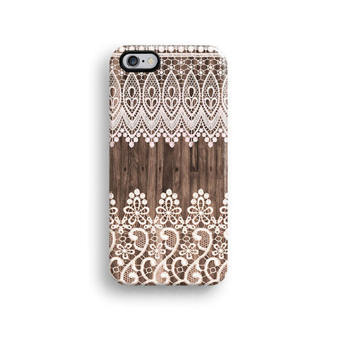 Lace wood iPhone case S679 - Decouart