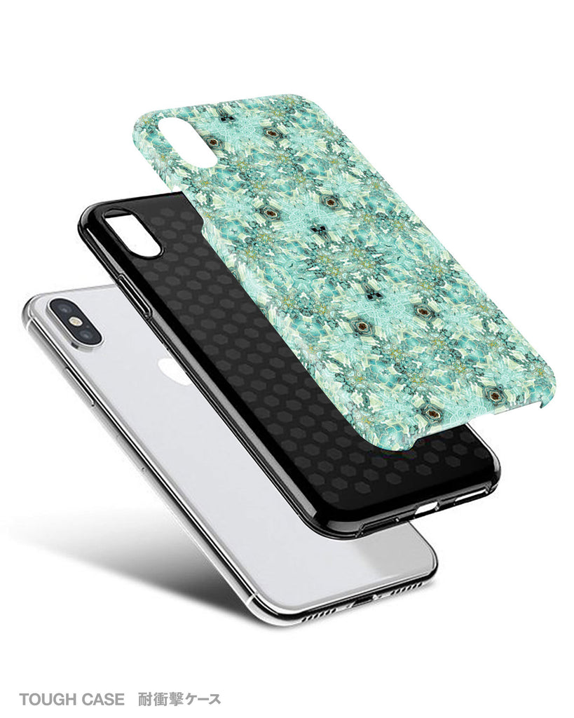 Mint floral iPhone 11 case S680 - Decouart