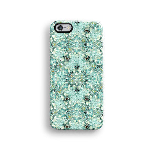 Mint floral iPhone 7 case, iPhone 7 Plus case S680 - Decouart - 1