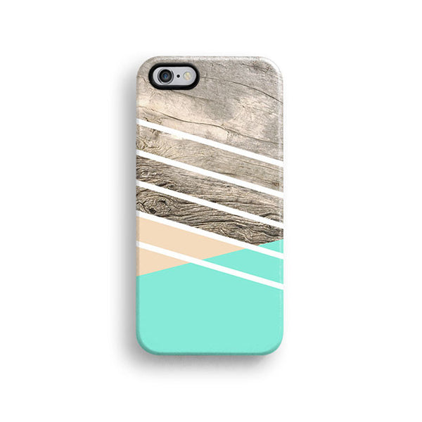 Mint wood geometric iPhone 7 case, iPhone 7 Plus case S688 - Decouart - 1