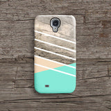 Mint wood geometric iPhone 7 case, iPhone 7 Plus case S688 - Decouart - 2