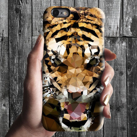 Geometric tiger iPhone 7 case, iPhone 7 Plus case S696 - Decouart - 1