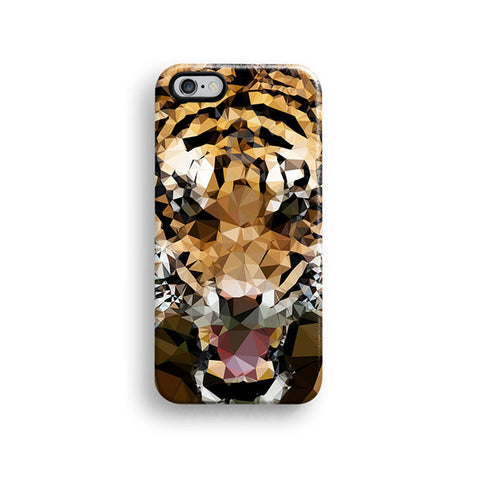 Geometric tiger iPhone case S696 - Decouart