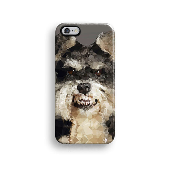 Geometric Schnauzer iPhone 7 case, iPhone 7 Plus case S697 - Decouart - 1