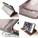Lace wood iPhone wallet case W025 - Decouart