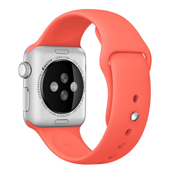 Apple watch band, Apricot Decouart Soft Silicone Replacement Sport Band for 42mm 38mm - Decouart