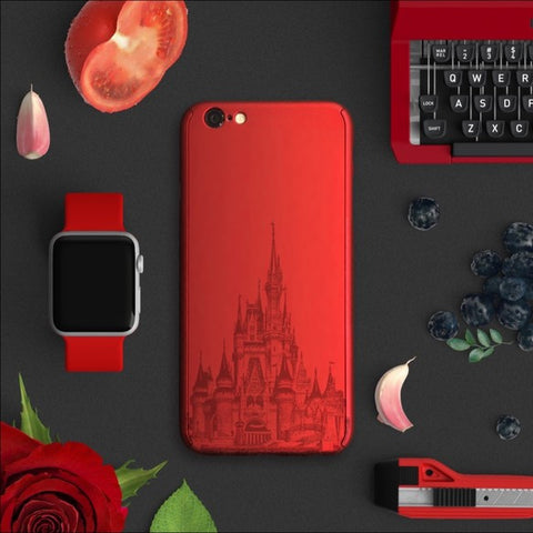 Castle full protection iPhone 7 plus red case Disney | 【360°全面保護強化ガラスフィルム付き】iPhone 7 / 7+ / SE / 6s / 6s+ /5s ケース red-Disney - Decouart