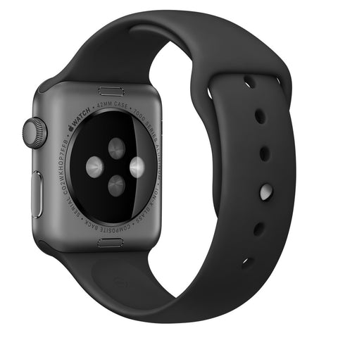 Apple watch band, Black Decouart Soft Silicone Replacement Sport Band for 42mm 38mm - Decouart - 1