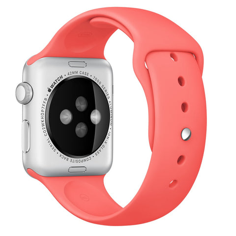 Apple watch band, Coral Decouart Soft Silicone Replacement Sport Band for 42mm 38mm - Decouart